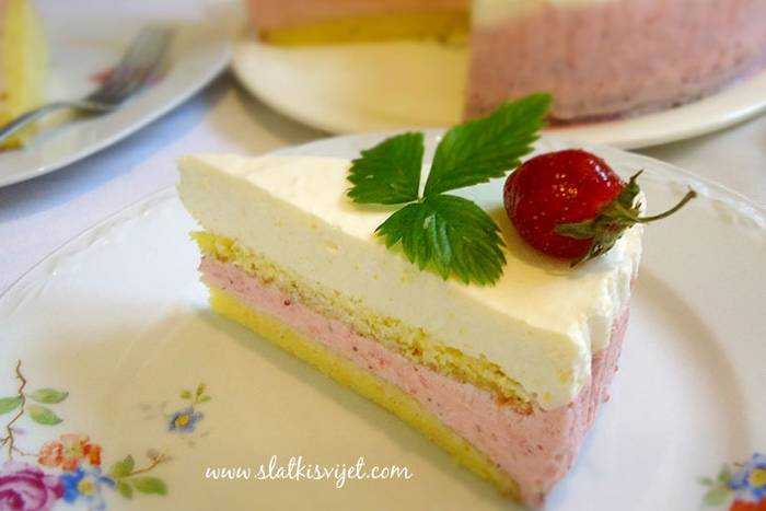 Voćna torta od jagoda i limuna