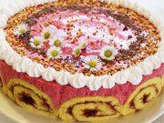 Rolada torta s malinama i limunom