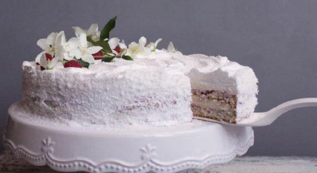 Torta s malinama i kokosom
